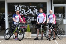 Cecil and Larter's 90th Birthday Bike Ride