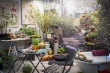 Levande växttapet i Årets balkonger på Nordiska Trädgårdar
