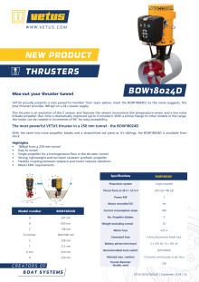 VETUS BOW18024D bow thruster - Information Sheet