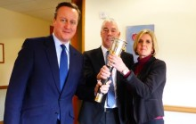 Prime Minister helps promote 'pass the torch' apprenticeship campaign