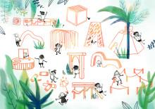 Alfons Åberg inspirationskälla när designstudenter från HDK utforskar utomhuslek