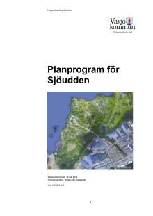 Planprogram Sjöudden - antagande