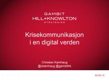 Christian Kamhaug - Krisekommunikasjon i en digital verden