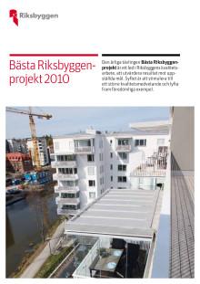 Bästa Riksbyggenprojekt 2010