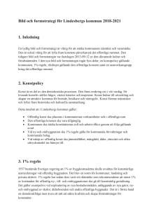 Lindesberg föreslås få kommunövergripande bild- och formstrategi