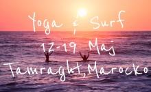 Yoga & Surfcamp 12-19 Maj, Tamraght, Marocko