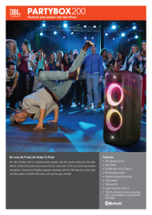 JBL Party Box 200_Spec sheet