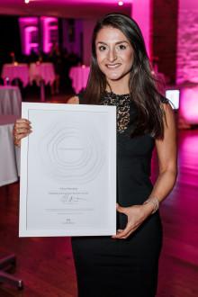 Alice Moradian korad till Årets Blivande Entreprenör 2017 av Founders Alliance