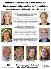 Centerledare och universitetet i panelsamtal om stöd för internationell doktorandutbildning