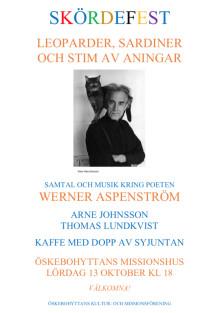 Skördefest i Öskebohyttan kring Werner Aspenström