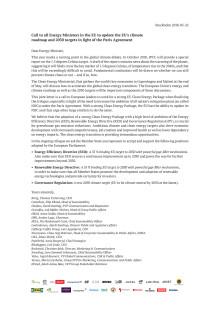 Öppet brev: Skärp EU:s klimatstrategi