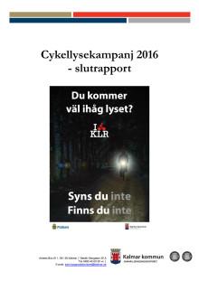 Slutrapport cykellysekampanj 2016