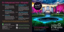 Lights in Alingsås - informationsfolder med slinga