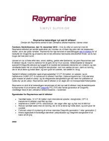 Raymarine bekendtgør nyt sæt til isfiskeri