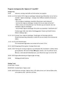 Programblad för visningshelg 6-7 maj 2017