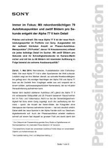 Medienmitteilung_Alpha77II_D-CH_140501