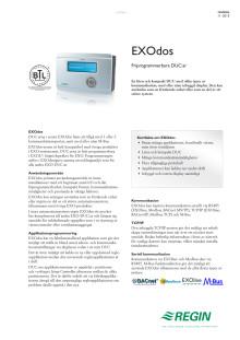 Produktblad för EXOdos, friprogrammerbara regulatorer för 230 V