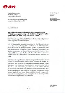 E.ONs remissvar Prisförändringsprövning