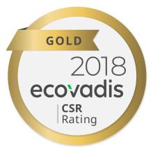 Hurtigruta Carglass har mottatt gull rating av Ecovadis