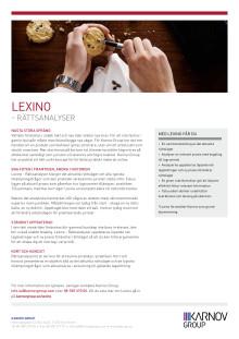 Läs mer om Lexino - Rättsanalyser