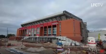 New timelapse video shows progress of Liverpool FC's new Main Stand