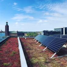 Forsen hjälper SPP Fastigheter att minska det fossila avtrycket – installerar solceller på Klaraporten