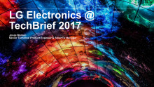 Press kit for LG Electronics at TechBrief 2017