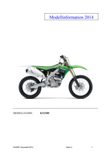 Modellinformation KX250F