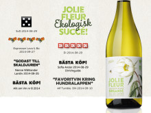 Fantastiska betyg för Jolie Fleur Sauvignon Blanc Organic 2013!