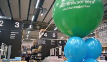 Nya stora färskvaruhallar  i centrum – nu invigs Martin & Serveras ombyggda Restaurangbutik i Årsta
