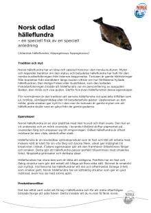 Norsk odlad hälleflundra - faktablad