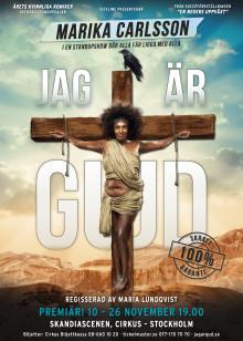 """Maria Lundqvist regisserar Marika Carlssons standupföreställning """"Jag är Gud"""""""