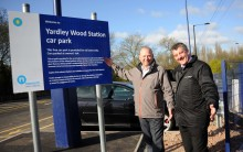 Extended free car park at Yardley Wood station opens for rail commuters