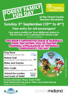 Extra trains for Forest Family Fun Day