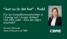 Amanda Welander pratar om transaktionsmarknaden med Fastighetsnytt's Sverrir Thór.