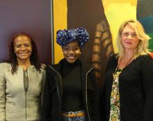 Namibias ambassadör besökte Högskolan Väst