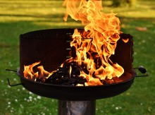 """Brannfaren er stor - """"grill-branner"""" for 100 millioner kroner"""