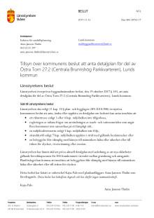 Länstyrelsen Skånes beslut att kalla in planerna