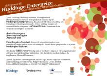 Inbjudan till galan Huddinge Enterprize