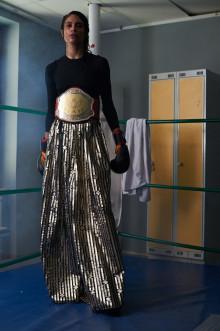 Proffsboxare modell på Beckmans examensvisning