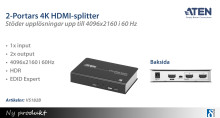 Splitta en 4K HDMI-signal i 60Hz till två skärmar samtidigt