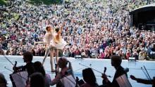 Fira Nationaldagen med Operan på Haga i närvaro av Kronprinsessparet