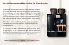 Jura Kaffeevollautomaten-Mietservice für den Betrieb