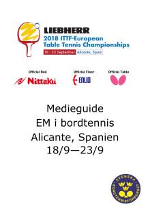 Medieguide Em 2018, Spanien, Bordtennis