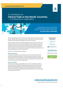 Invitation 4th conference on Clinical Trials in the Nordic Countries