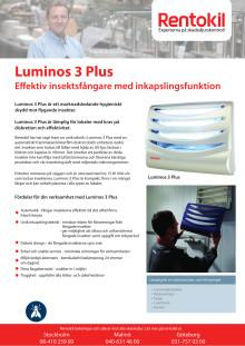 Luminos 3 Plus Effektiv insektsfångare med inkapslingsfunktion