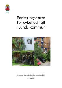 Parkeringsnorm för Lunds kommun