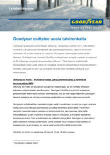 Goodyear esittelee talvirenkaita - Lehdistötiedote