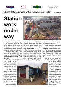 Station extension starts  at Elstree & Borehamwood