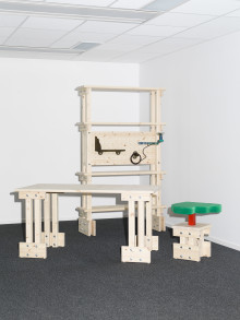 Future office furniture explored by Beckmans' students at Stockholm Furniture Fair
